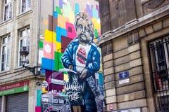 Manneken pis graffiti Royalty Free Stock Image