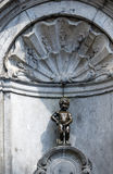 Manneken Pis (Little man Pee) in Brussels, Belgium Royalty Free Stock Photo