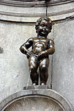 Manneken Pis 41. This is the Manneken Piss, a famous and typical sculpture in Brussels Stock Images