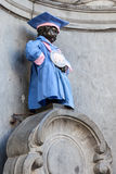Manneken Pis sculpture in Brussels, Belgium Royalty Free Stock Images