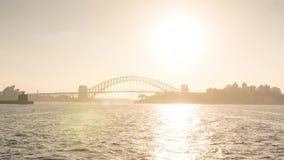 Mannelijk aan de veerboot hypertijdspanne van Sydney stock videobeelden