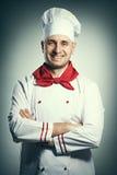 Mannelijk chef-kokportret Royalty-vrije Stock Afbeelding