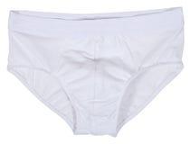 Mannelijk die ondergoed op wit wordt geïsoleerd Royalty-vrije Stock Foto