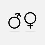 Mannelijk en Vrouwelijk pictogram Royalty-vrije Stock Foto