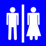 Mannelijk en vrouwelijk teken Royalty-vrije Stock Afbeeldingen