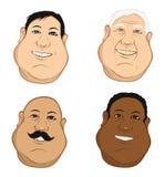 Mannelijk hoofdenvet Stock Foto's