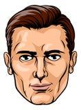 Mannelijk Knap Gezicht royalty-vrije illustratie