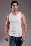 Mannelijk model half lengteschot Stock Fotografie
