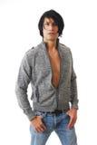 Mannelijk model met houding Stock Fotografie