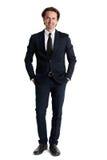 Mannelijk Model in Pak stock afbeelding