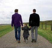 Mannelijk paar met kind Royalty-vrije Stock Afbeelding