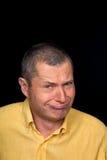 Mannelijk Portret met groteske emoties Royalty-vrije Stock Fotografie