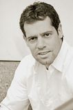 Mannelijk portret in sepia Stock Afbeelding