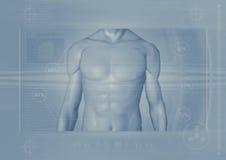 Mannelijk torso backround stock illustratie