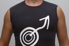 Mannelijk torso in vest stock afbeelding