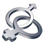 Mannelijk vrouwelijk symbool Stock Afbeelding