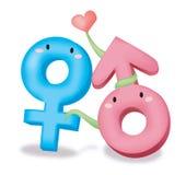 Mannelijk vrouwelijk symbool royalty-vrije illustratie