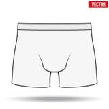 Mannelijk wit onderbroekmemorandum Vector illustratie Stock Afbeeldingen