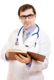 Mannelijke arts in glazen Stock Foto's