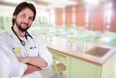 Mannelijke arts i Stock Afbeelding