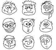 Mannelijke avatars Royalty-vrije Stock Afbeeldingen