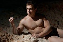 Mannelijke bodybuilder royalty-vrije stock afbeeldingen