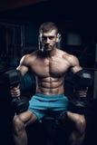 Mannelijke bodybuilder, geschiktheidsmodel Stock Foto's