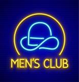 Mannelijke club voor heren Het teken van het neon Vector Royalty-vrije Stock Foto's
