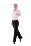 Mannelijke danser. De uitnodiging te dansen. Stock Foto's