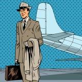 Mannelijke de reizigerszakenreis van de passagierslucht stock illustratie
