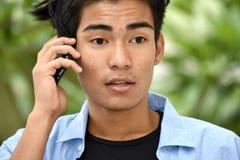 Mannelijke en Mobiele Telefoon royalty-vrije stock afbeeldingen