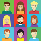 Mannelijke en vrouwelijke avatars Royalty-vrije Stock Foto