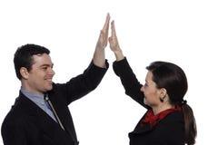 Mannelijke en Vrouwelijke Businesspeople Stock Afbeelding