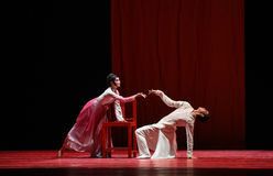 """Mannelijke en vrouwelijke confrontatie-dans drama""""Mei Lanfang† Stock Afbeelding"""