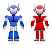 Mannelijke en Vrouwelijke Robot stock illustratie