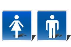 Mannelijke en vrouwelijke tekens Stock Foto
