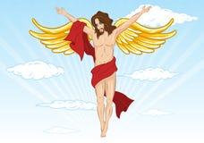 Mannelijke engelen vectorillustratie vector illustratie