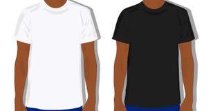 Mannelijke geschilderde t-shirt, realistisch Stock Foto's