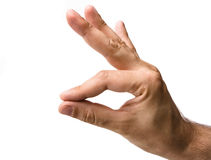Mannelijke Hand Gesturing royalty-vrije stock foto's