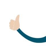 Mannelijke hand met omhoog duim Stock Foto