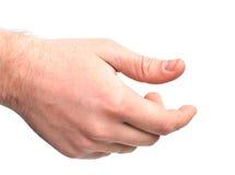 Mannelijke hand wat betreft iets Royalty-vrije Stock Afbeeldingen