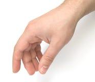 Mannelijke hand wat betreft iets royalty-vrije stock foto's