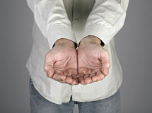 Mannelijke handen Stock Foto