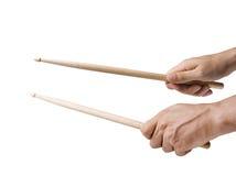 Mannelijke Handen die Trommels spelen Royalty-vrije Stock Afbeelding
