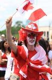 Mannelijke het Vieren Canada Dag royalty-vrije stock afbeelding