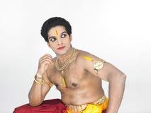 Mannelijke klassieke danser van Azië Stock Afbeeldingen