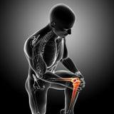 Mannelijke kniepijn Stock Afbeelding