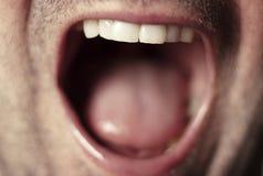 Mannelijke mond dichte omhooggaand Stock Foto's