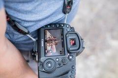 Mannelijke persoon met Teken IV van Canon 5D royalty-vrije stock afbeeldingen