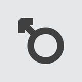 Mannelijke pictogramillustratie Stock Fotografie
